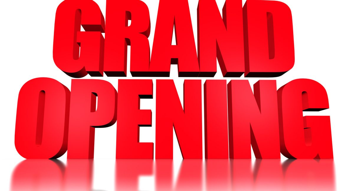 3d text Grand opening
