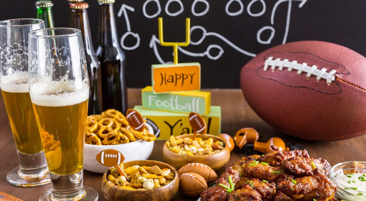 Appetizers on the table for the football party.; Shutterstock ID 470790986; PO: today.com